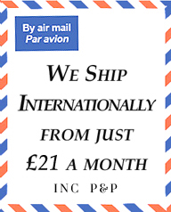 We ship internationally from just £19 per month
