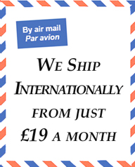 We ship internationally from just � per month